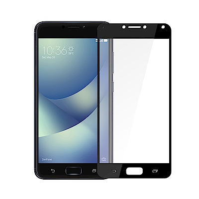 【SSTAR】ASUS Zenfone4 MAX ZC554KL 全膠滿版鋼化日規玻璃貼黑