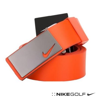 NIKE GOLF 金屬風格牛皮寬版皮帶-橘616971-812