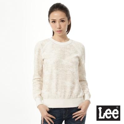 Lee 金蔥厚棉圓領T恤 -女款-白