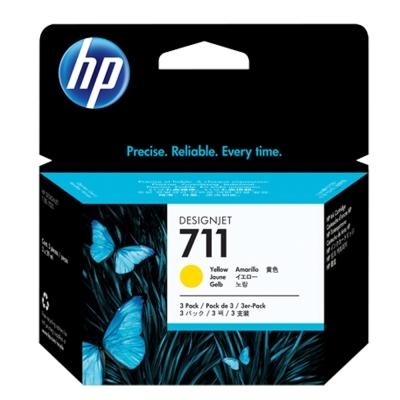 HP CZ136A  NO.711 原廠黃色墨水匣 3入/盒