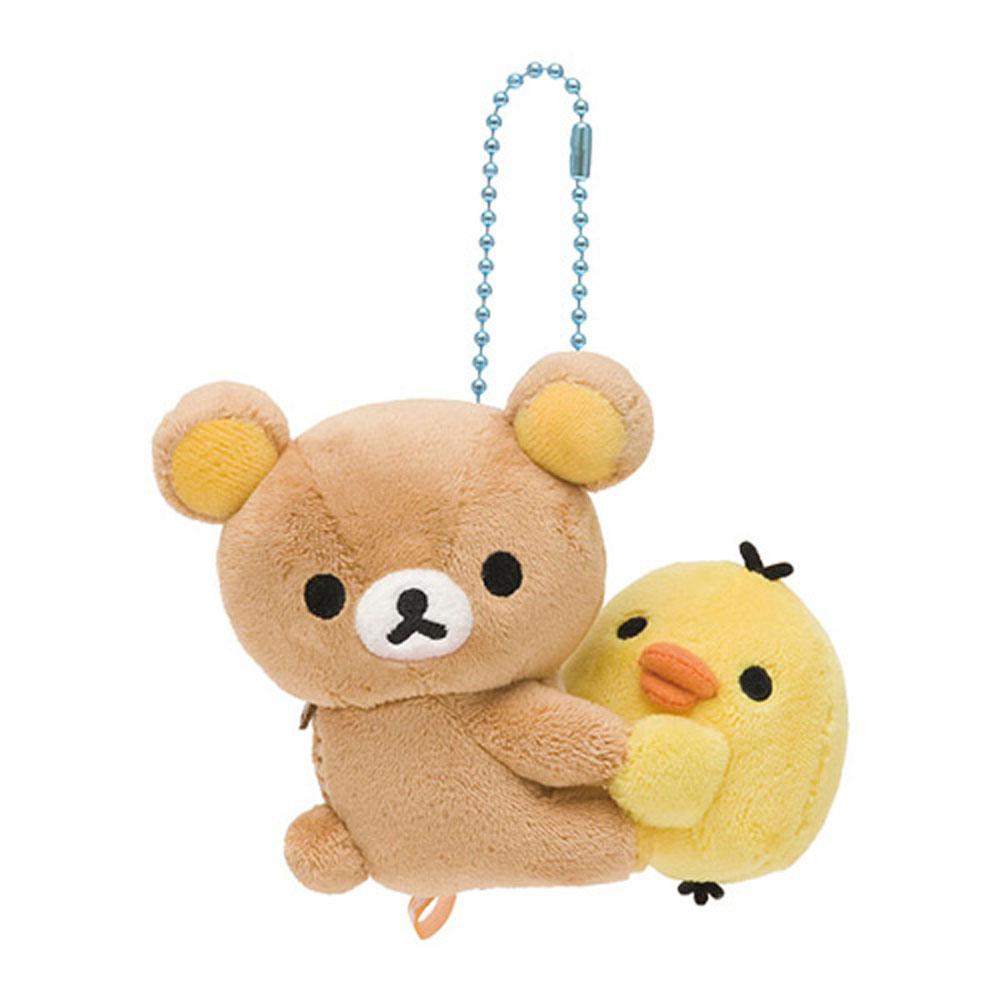 拉拉熊相愛抱抱毛絨公仔吊飾。懶熊 x 小雞
