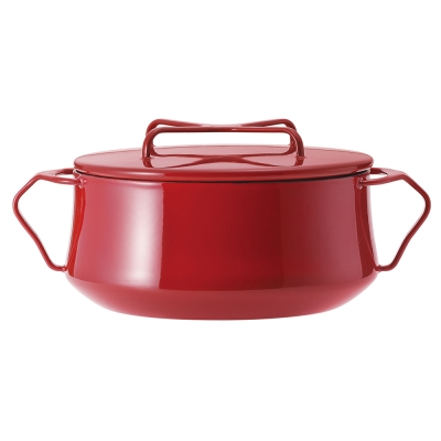 DANSK-琺瑯雙耳燉煮鍋-紅色