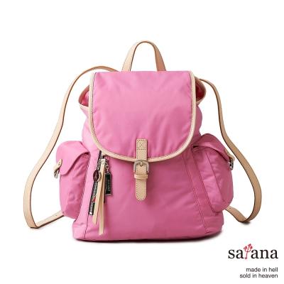 satana -929 Ladies 小確幸‧優雅小型後背包-凡爾賽玫瑰