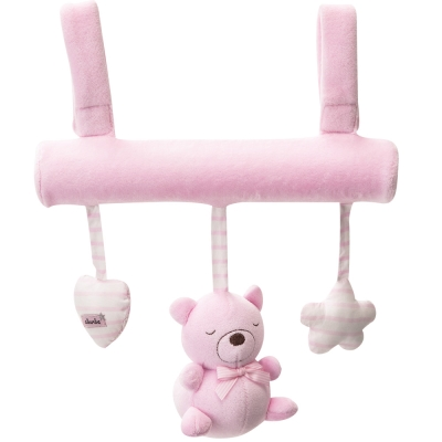 奇哥 布偶熊吊掛玩具-粉