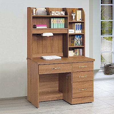 Bernice-貝森3.2尺書桌(上座+下座)-96x58x166cm