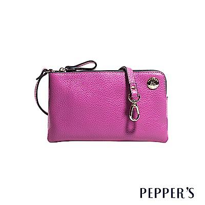 PEPPER`S Doris 牛皮手機隨身包 - 桃紫