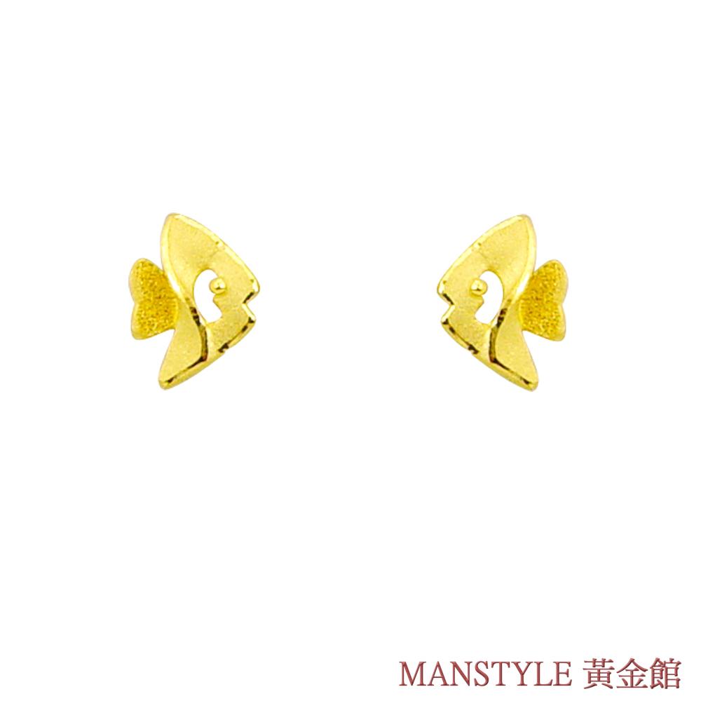 MANSTYLE「熱帶魚」黃金耳環