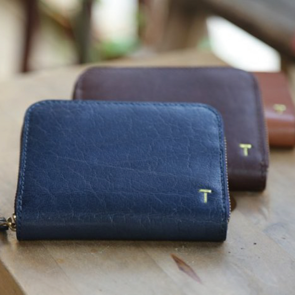24MAMA- 真皮牛皮歐款客製 零錢包 短夾 皮夾 皮包 鈔票夾 拉鍊 鑰匙包