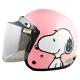 史奴比SNOOPY4/3罩安全帽 亮面粉 (小帽圍 54~57cm含贈送的長鏡片) product thumbnail 1