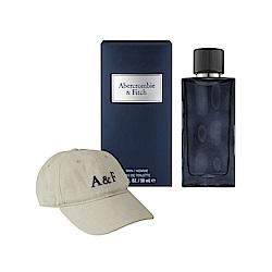 ABERCROMBIE & FITCH 湛藍男性淡香水50ml(加贈A&F品牌棒球帽)