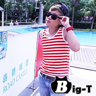 BIG-T-出門方便一件式全身排扣外穿經典條紋款