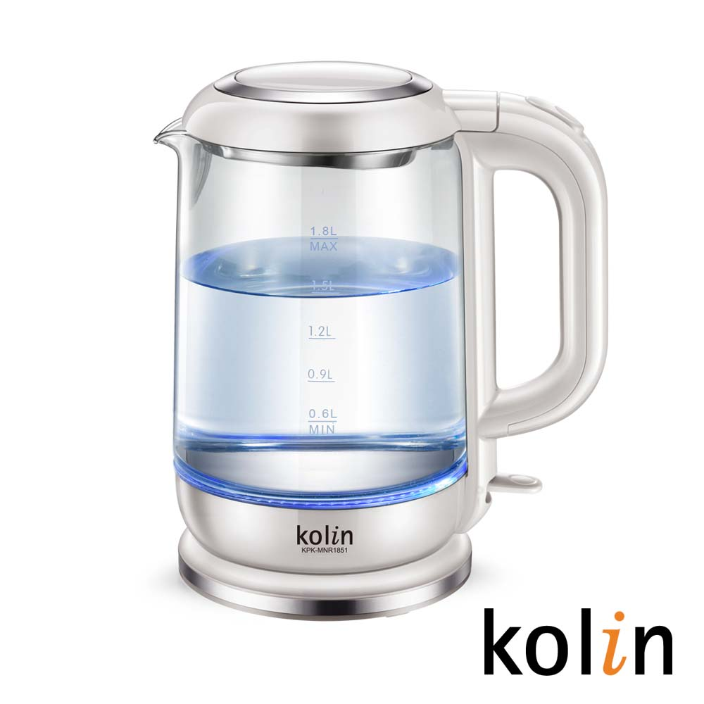 歌林LED玻璃快煮壺(1.8L)KPK-MNR1851