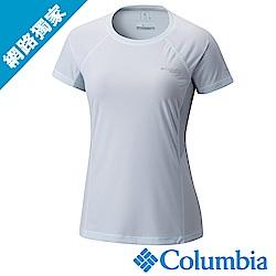 Columbia 哥倫比亞 女款-涼感快排野跑短袖