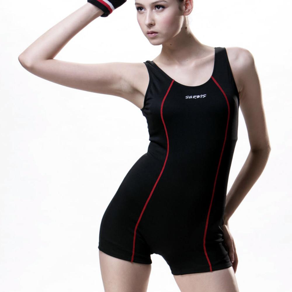 泳裝連身式SPA泡湯連身女泳裝沙兒斯