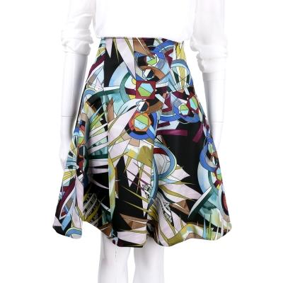 VERSACE 多彩幾何圖形拼接及膝裙