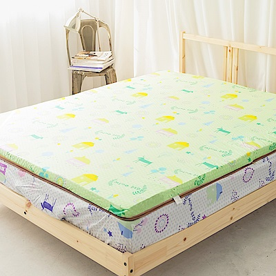 米夢家居-夢想家園-MIT冬夏兩用純棉+紙纖三合一高支撐記憶床墊-雙人加大6尺(青春綠)