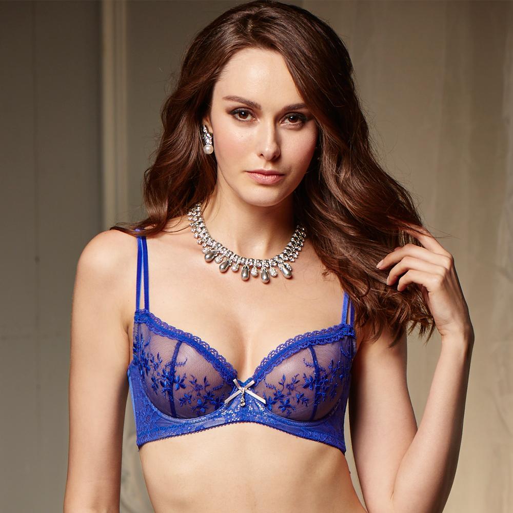 La Felino- 藍極光3/4無襯款C-E罩杯內衣 (極光藍)