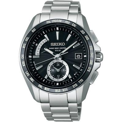 SEIKO BRIGHTZ 太陽能【鈦】世界4局電波腕錶(SAGA159J)-黑/42mm