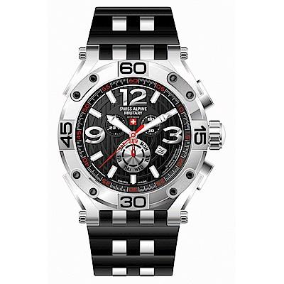 阿爾卑斯軍錶S.A.M 紅色警戒系列重磅款7031.9837/鋼鐵銀/48mm