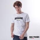 BIG TRAIN 潮流文字圓領T-男-白色