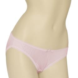 內褲 100%蠶絲蝴蝶結低腰三角內褲2件組M-XL(粉紅) Seraphic