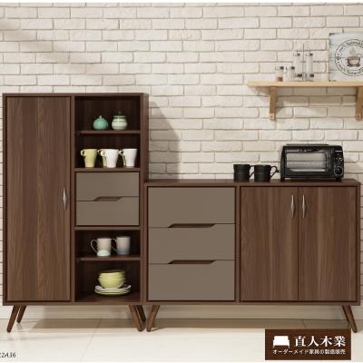 日本直人木業傢俱- Italy簡約120CM廚櫃(120x40x85cm)+79公分置物櫃