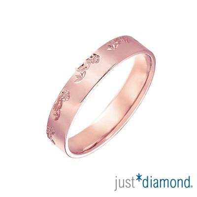 Just Diamond 18K玫瑰金戒指(4mm)-松竹梅