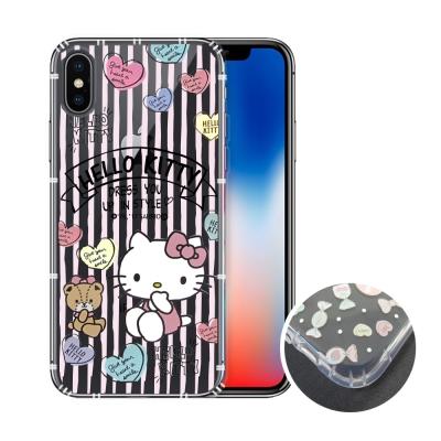HELLO KITTY iPhone X 氣墊空壓殼(愛心)