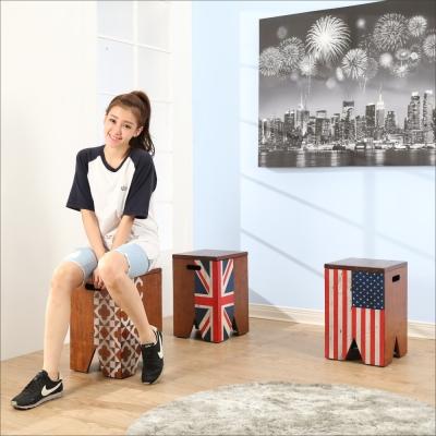 《BuyJM》復古實木儲物收納椅凳/收納箱-免組
