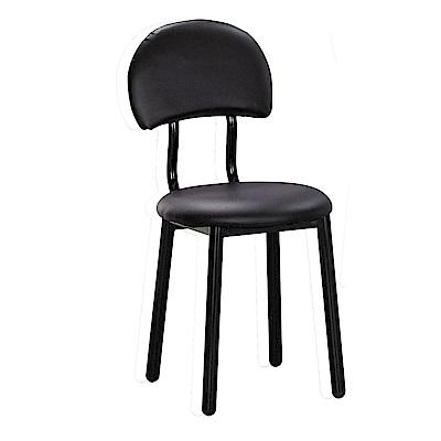 H&D 羅莎黑皮椅 (寬40X深52X高83cm)
