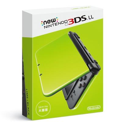 任天堂 New 3DS LL 日規主機 (萊姆綠) 加變壓器、主機包