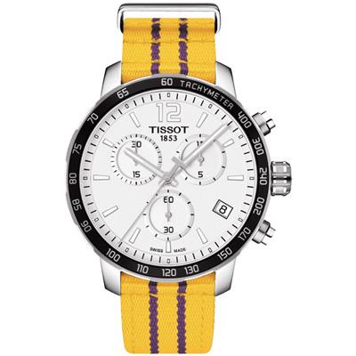 TISSOT Quickster X NBA 洛杉磯湖人隊特別版計時腕錶-42mm