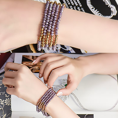 紫色迷情璀璨貴氣手鍊-林真邑