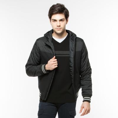 Hang Ten - 男裝 - 恆溫多功能系列連帽鋪棉外套 - 黑