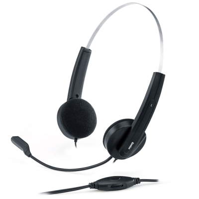 Genius HS-210C 立體聲輕型線控耳機麥克風