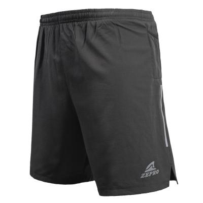 【ZEPRO】男子Zero雙層運動慢跑短褲-深灰