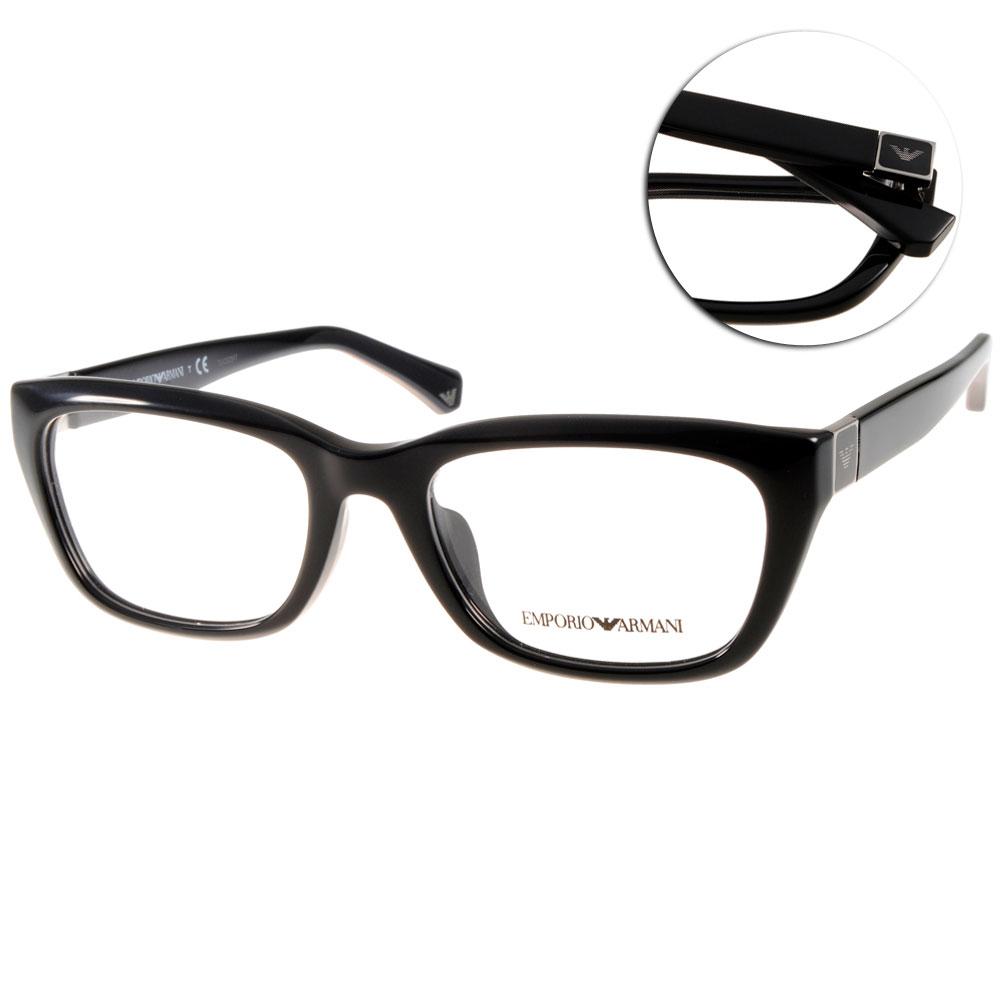 EMPORIO ARMANI眼鏡 義式時尚/黑#EA3058F 5017
