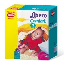 麗貝樂 嬰兒紙尿褲4號(L-54片x3包/箱)