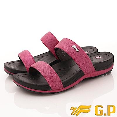 GP時尚涼拖-花漾晶亮拖鞋款-EI538W-15黑桃粉(女段)