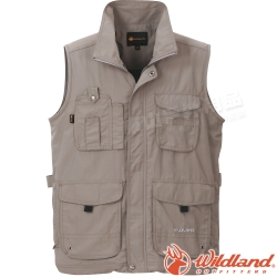 Wildland 荒野 W1705-82卡其色 中性 透氣抗UV休閒背心 多口袋