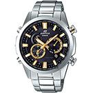 CASIO卡西歐 EDIFICE 太陽能電波賽車錶-金/49.1mm