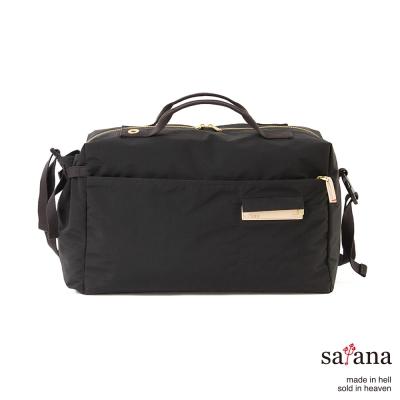 satana - 運動風旅行袋 - 黑色