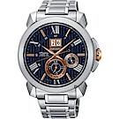 SEIKO精工 Premier 人動電能萬年曆手錶(SNP153J1)-42.9mm