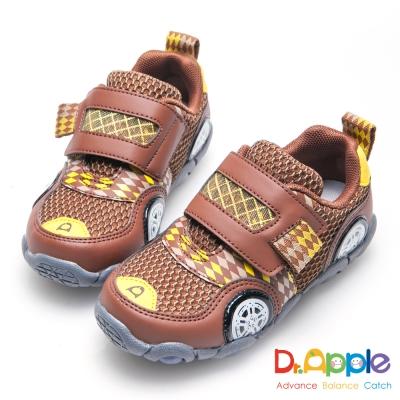 Dr. Apple 機能童鞋 急速旋風跑跑印花運動童鞋-咖