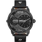 DIESEL 龐克黑勢力腕錶-黑/46mm