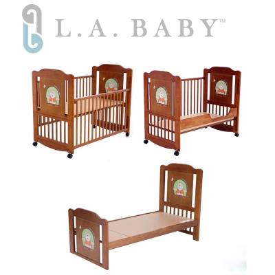 【美國 L.A. Baby】布魯克林三階段嬰兒木床/成長大床/童床(0歲-10歲幼童皆適用