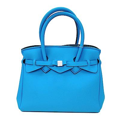 SAVE MY BAG 義大利品牌 MISS系列 深天藍超輕量手提托特包