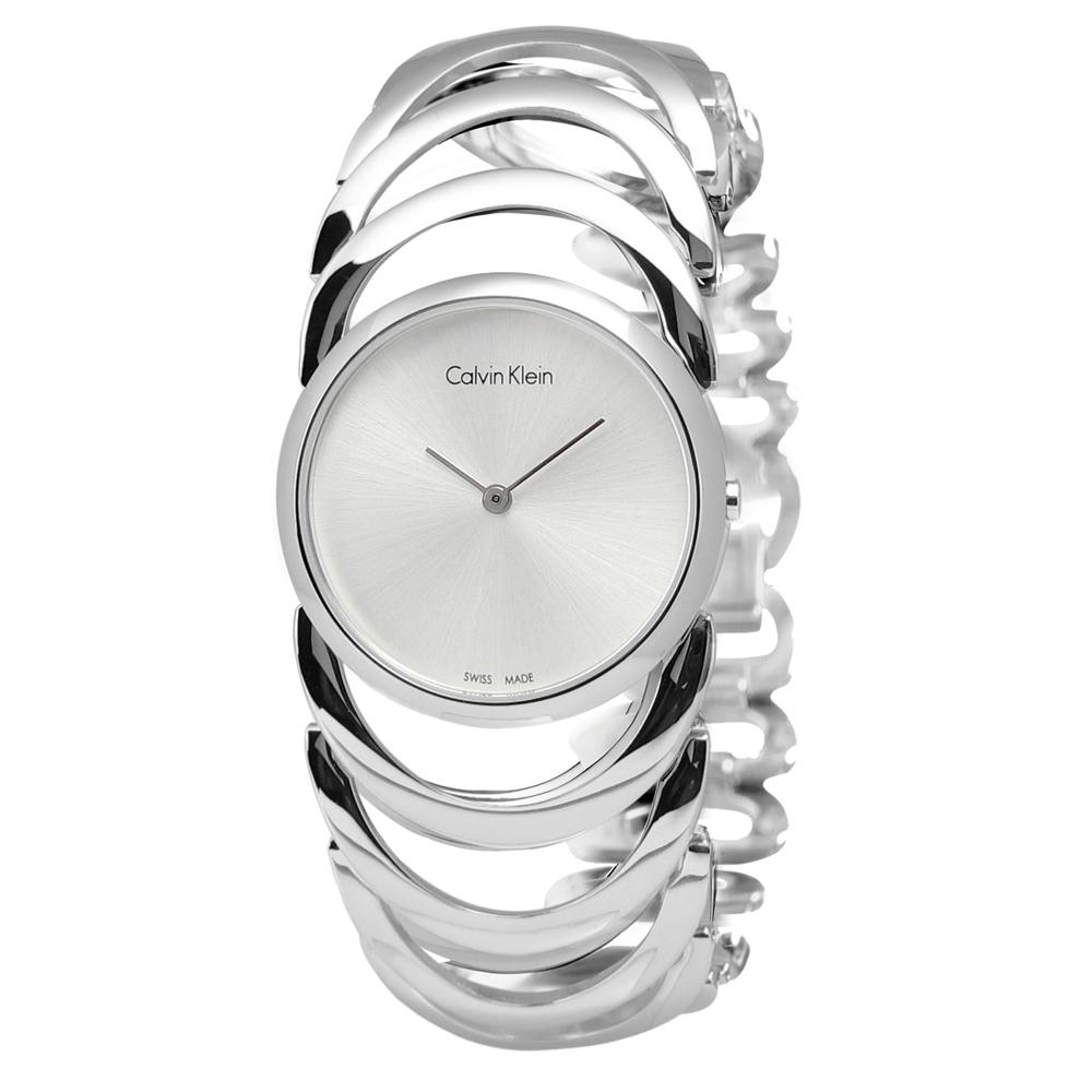 CK BODY 鍊戀時空經典手鍊式不鏽鋼腕錶-白色/30mm