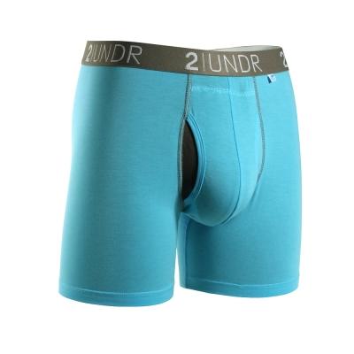 2UNDR Swing Shift 莫代爾吸排四角內褲(6吋)-粉藍色