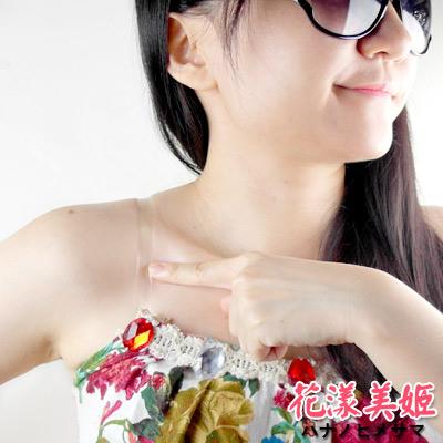 內衣透明肩帶-5對-花漾美姬-1cm加厚磨砂-耐穿